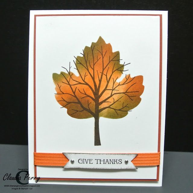 Stampin' Up!, Sheltering Tree, Stamp-a-Stack