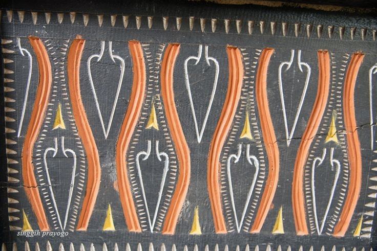 Details of A Tongkonan House, Toraja - South Sulawesi