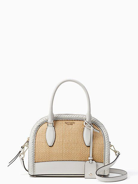 30d0d2d6efb3 Reiley straw medium dome satchel in 2019   Products   Fashion bags ...