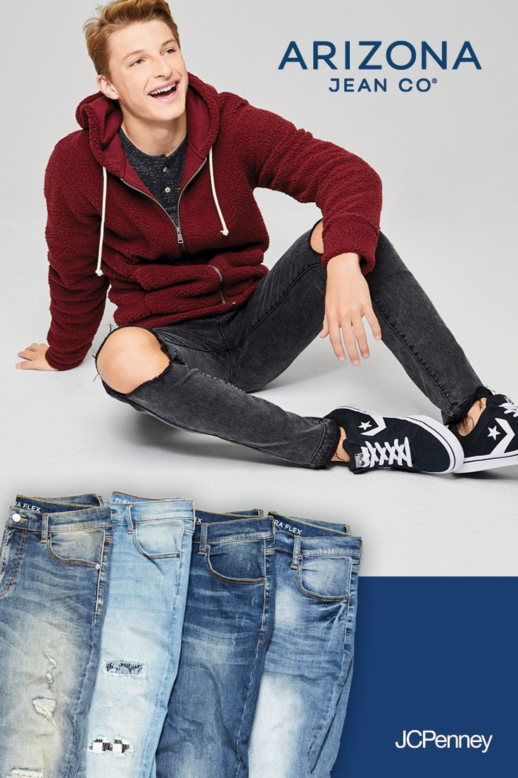 4aad6d3713af Arizona Jean Co. denim from JCPenney takes on the roughest day-to-day  obstacles with ease. From the skate park to the ball park