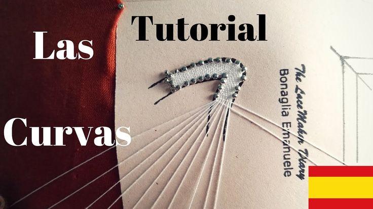 Tutoria Encaje de Bolillos - La curva con angulo