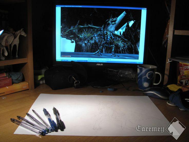 Undead Dragon | Ballpoint pens | WORK IN PROGRESS!