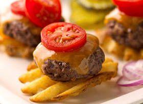 Mini Burger Potato Bites (swap with lean meat and sweet potatoes)