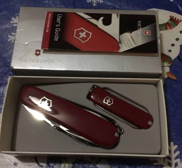 Victorinox - Brand New Subby Swiss Army Pocket Knife GIFT Set Red 1.8802  | eBay