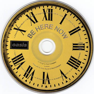 Oasis- Be Here Now Disc art. For creative on-disc printing, visit www.unifiedmanufacturing.com.