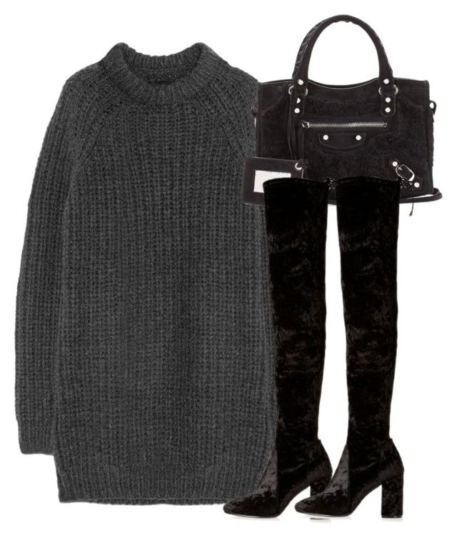 """""""Untitled #2939"""" by theeuropeancloset on Polyvore featuring NLST, Balenciaga and River Island"""