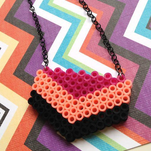 Hama bead necklace idea