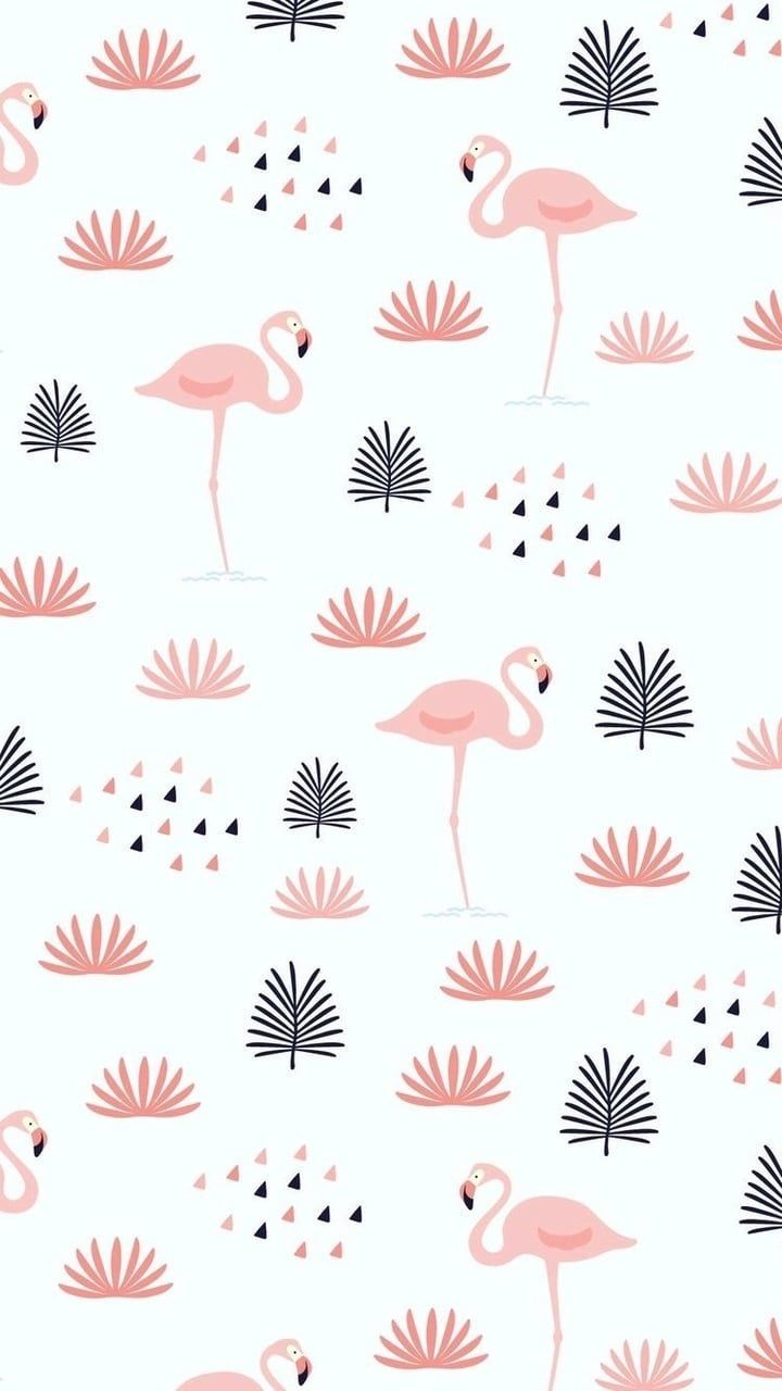 Pink Flamingo Simple Pattern Pattern With Images Flamingo