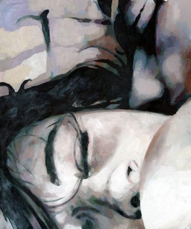 "Saatchi Online Artist: thomas saliot; Oil 2013 Painting ""the kiss"""
