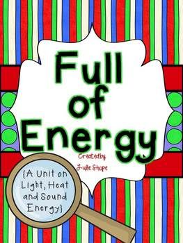 This product has lots of fun hands-on activities to help you teach about energy, specifically sound, light and heat energy! Your students will have so much for exploring energy and recording their learning with this fun unit! All you need to add to this unit are just a few objects for the experiments and you are set!