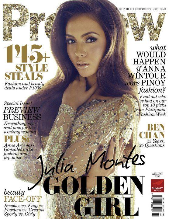 Julia Montes: Preview Magazine Cover