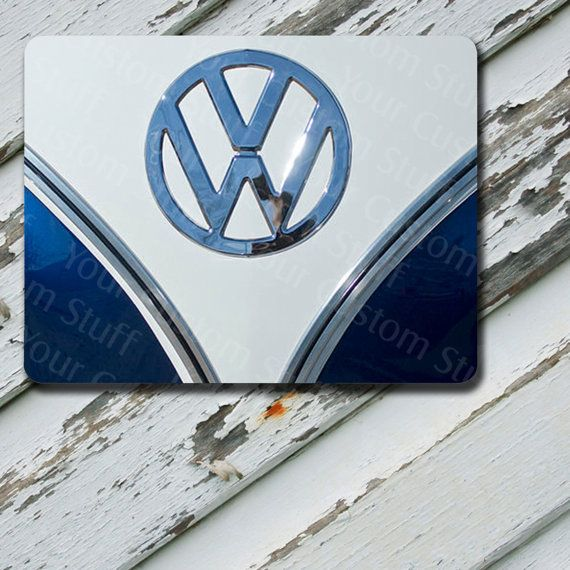 Mousepad VW Blue Bus Front End Design on by EastCoastDyeSub