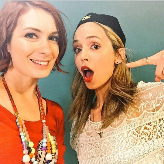 Felicia Day and Eliza Dushku