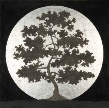 """Saatchi Art Artist Gian Luigi Delpin; Painting, """"night tree"""" #art"""