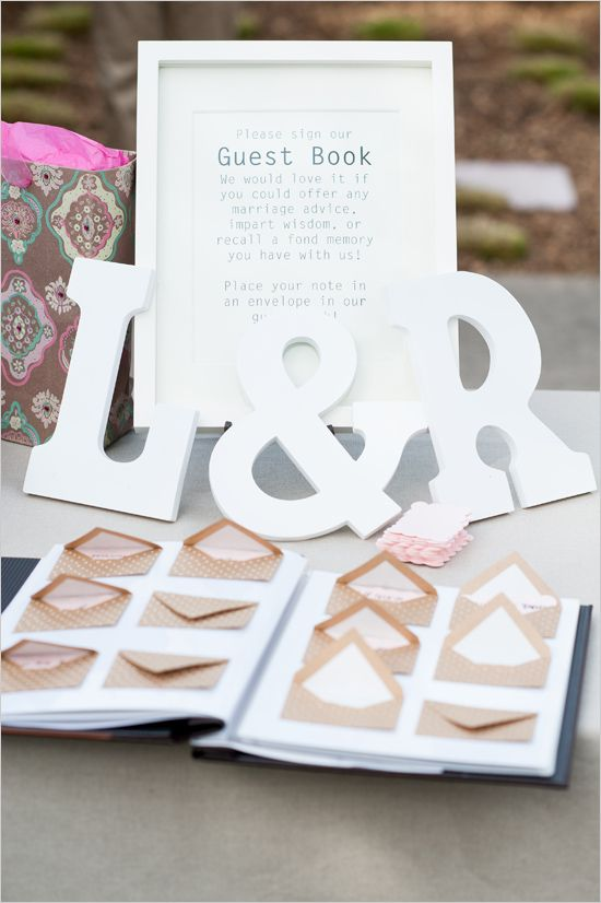 mini envelope guestbook idea | leave a love note | diy guestbook idea | #weddingchicks