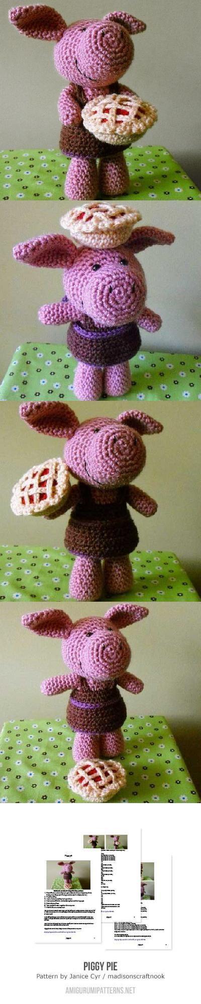 Piggy Pie amigurumi pattern by Janice Cyr / madisonscraftnook