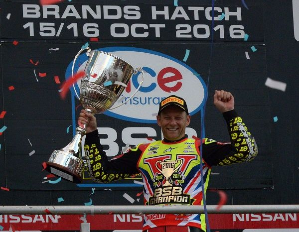 Byrne Crowned Champion At Brands http://www.cumbriacrack.com/wp-content/uploads/2016/10/Shane-Byrne-with-the-Championship-trophy.jpg Shane 'Shakey' Byrne claimed the 2016 MCE British Superbike Championship title in dramatic style at Brands Hatch today    http://www.cumbriacrack.com/2016/10/16/byrne-crowned-champion-brands/
