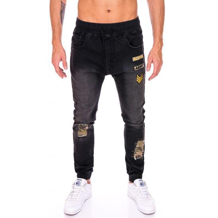 Pánske štýlové jogger nohavice čierne