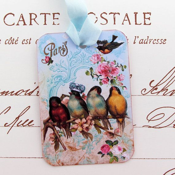 Tags Gift Hang Tea Party Bridal Shower Favor by EnchantedQuilling, $6.00