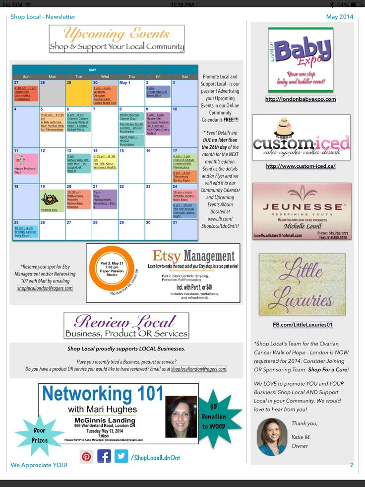 Shop Local's May Newsletter - Page 2