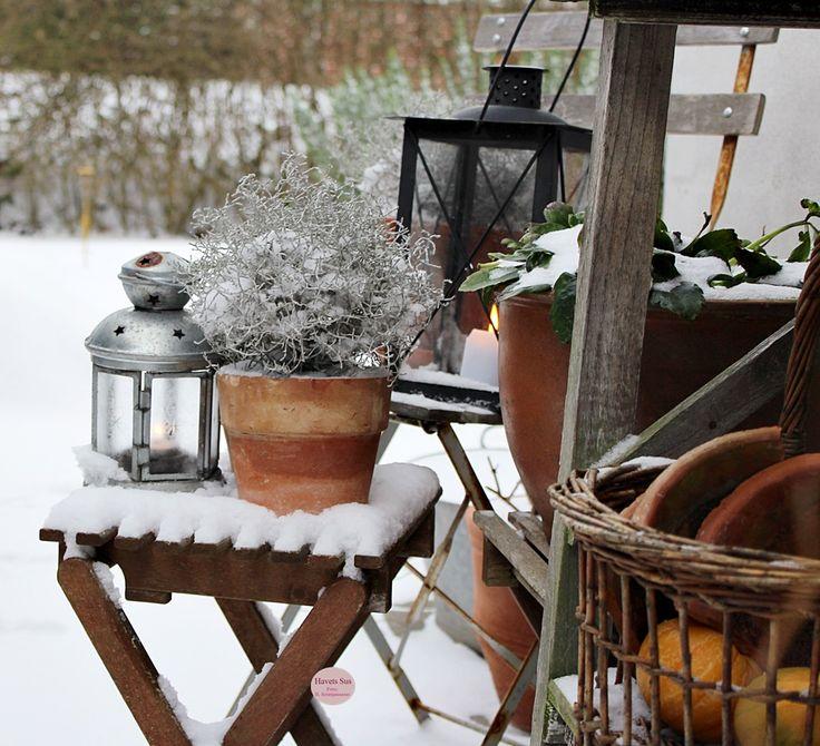 winter, vinter, lanterne, levende lys, sne, snow, interior, naturen, nature, Danmark, Denmark