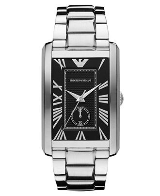 Emporio Armani Watch, Men's Stainless Steel Bracelet 39x32mm AR1608 - Men's Watches - Jewelry & Watches - Macy's