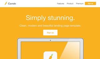 Carote - App Landing Page