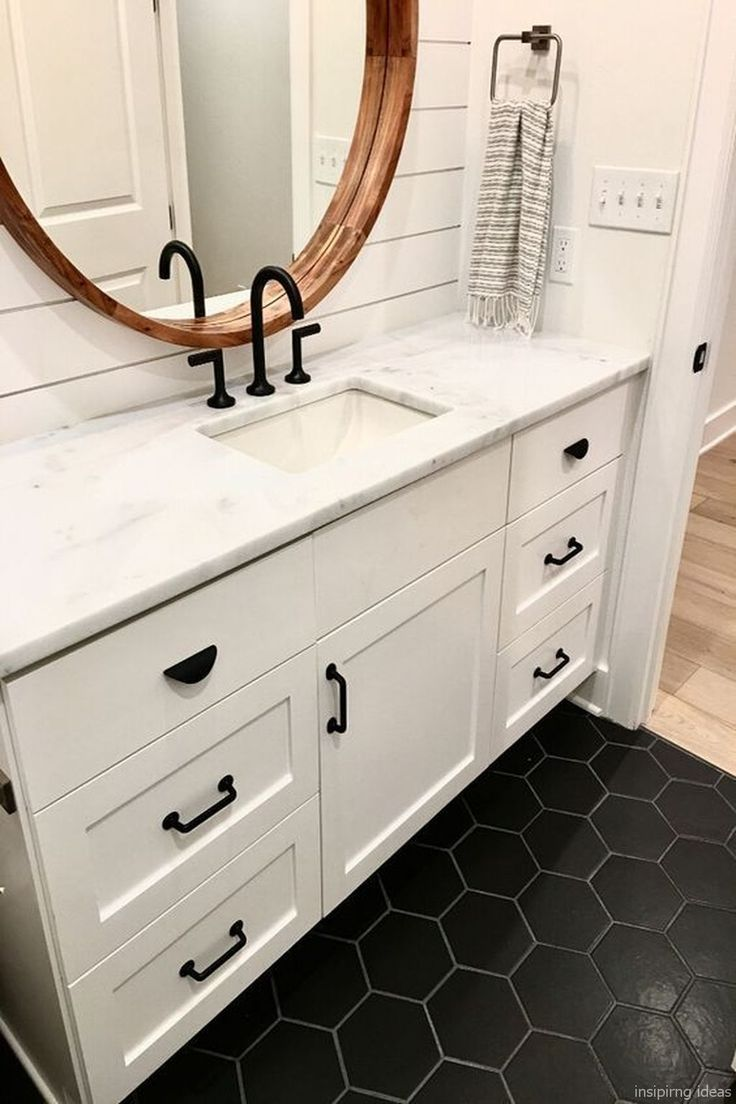 32 Awesome Modern Farmhouse Bathroom Vanity Ideas With Images