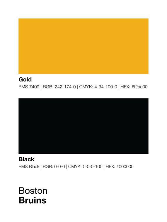 Boston Bruins Pantone Poster