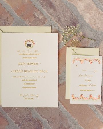Soft Red and Green Invitation Martha Stewart