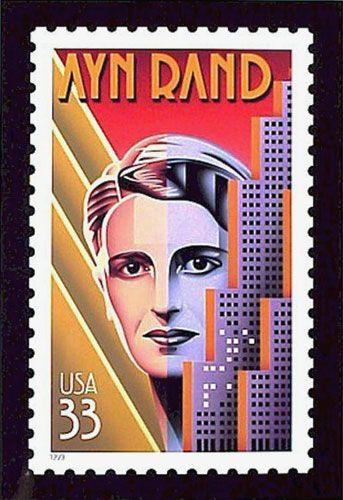 Ayn Rand Postage Stamp