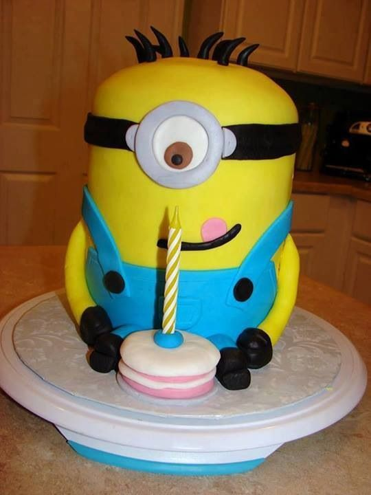 MINIONS baby first 1st birthday cake Minion Despicable Me