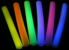 Glow in the dark pool noodle