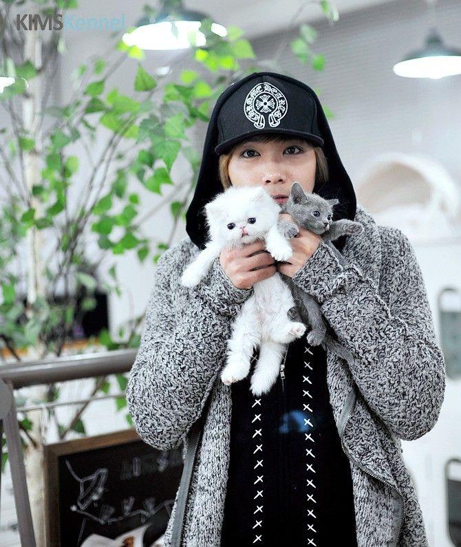 20 Adorable K-drama actors playing with kitties Hongki