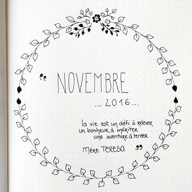 Novembre se prépare dans mon bullet journal ! j'aime parsemer mon bullet journal de citations inspirantes comme ici, une citation de mère Teresa http://creeretc.com
