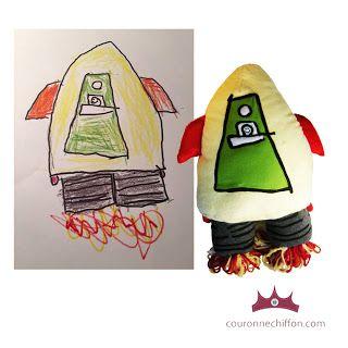 La couronne de chiffon: turn your child's art into a gift