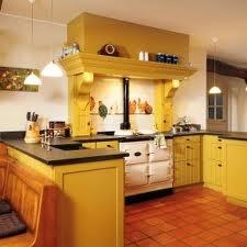 keuken geel landelijk