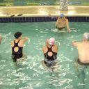 água, hidroginástica, condicionamento físico, treino, bicicleta