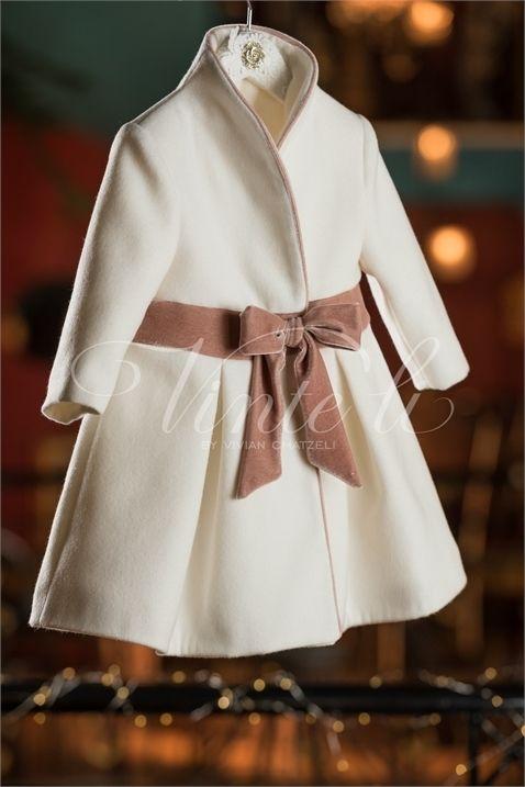 Επώνυμο παλτό βάπτισης της Vinte Li για κοριτσάκι c6ca7c992fb