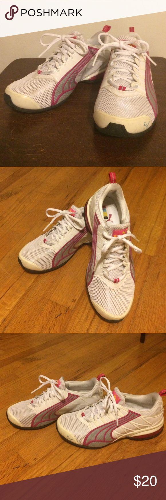 Puma tennis shoes Pink and white puma tennis shoes Puma Shoes Sneakers