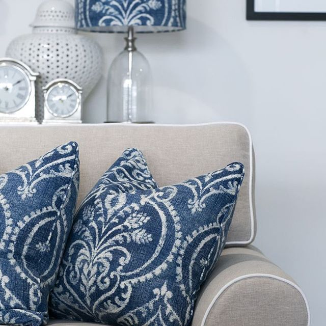 What's not to love? In store are these Aztec Denim printed cushions, also available in a lamp shade