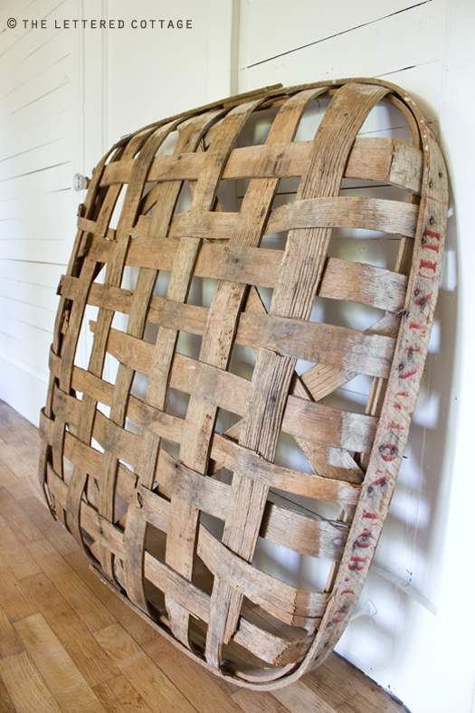 tobacco baskets- love texture & patterns of wooden lattice work