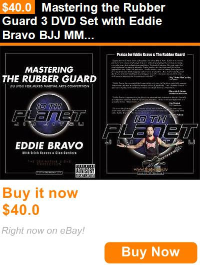 DVDs Videos and Books 73991: Mastering The Rubber Guard 3 Dvd Set With Eddie Bravo Bjj Mma Brazilian Jiujitsu BUY IT NOW ONLY: $40.0