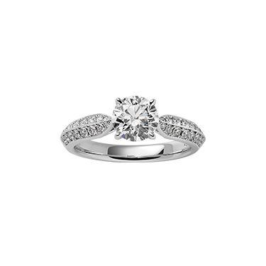 贅沢にダイヤをあしらった、サイドからも美しいデザイン *エンゲージリング 婚約指輪・ミキモト一覧*