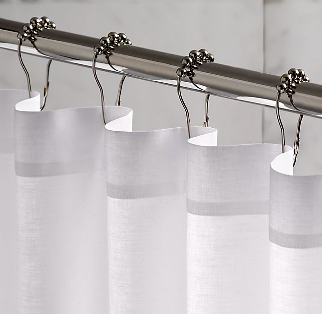 Rollerball Shower Curtain Rings Set Of 12 Shower Curtain Hooks Shower Curtain Rings Waffle Weave Shower Curtain
