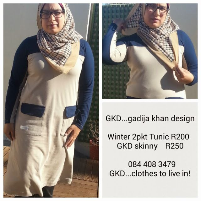 GKD...gadijakhan design. Clothes to live in! Winter colour block tunic ideal for hijab muslimah