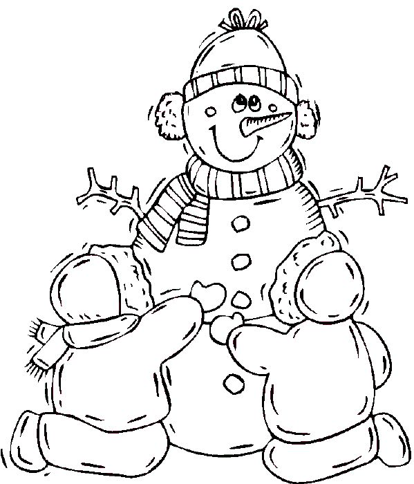 kids under snowman coloring pages for kids coloring home pages