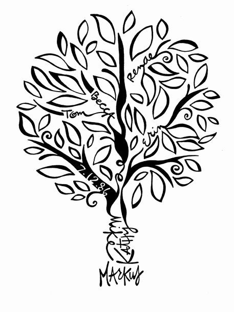 This is one of several family tree designs available from Von.G Art.  This one…