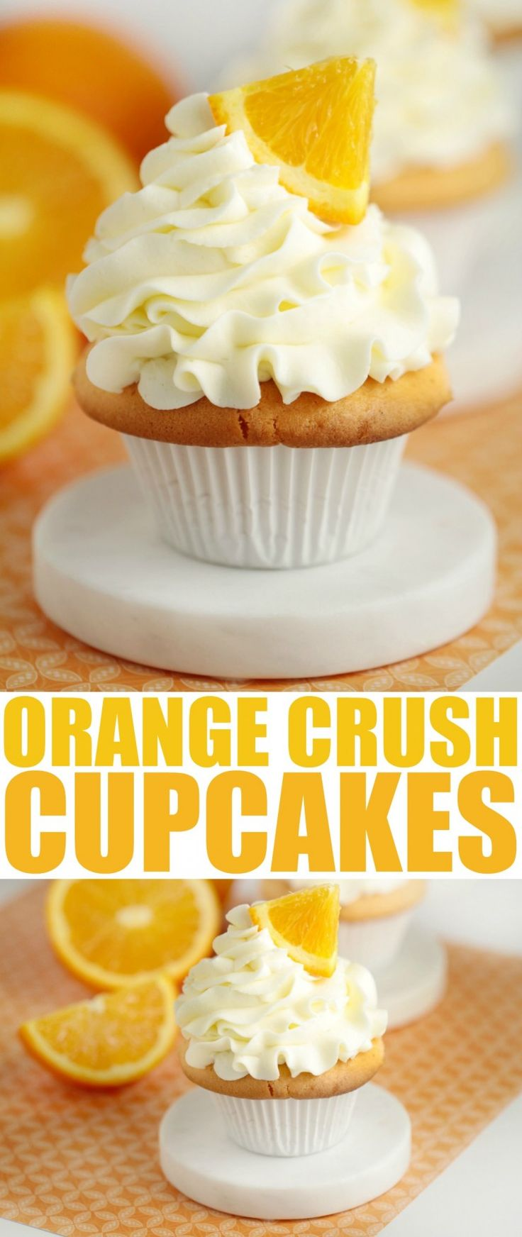 I love doctoring box cake mixes and quite frankly this doctored cake mix recipe for orange crush cupcakes is the bomb. It's got bright citrus flavours and results in a divine, fluffy cupcake.
