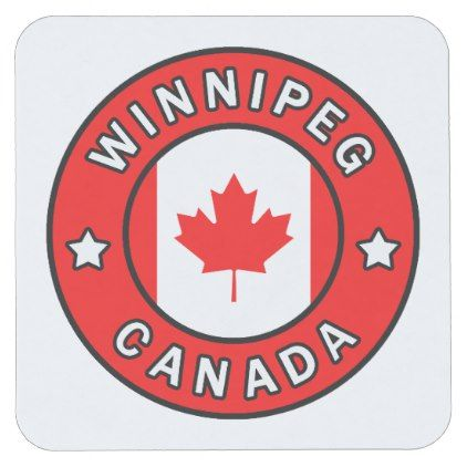 Winnipeg Canada Square Paper Coaster Home Gifts Ideas Decor Special Unique Custom Individual Customized Individualized